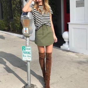 Marissa Webb Adley Lace Up Tie Canvas Skirt